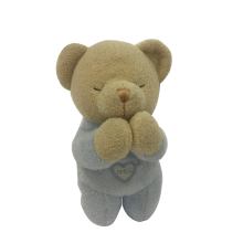 Plush Pray Bear For Baby Blue