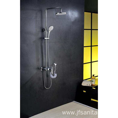 Shower head set with tub shower kit brass
