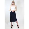 Knee Length Bias Cut Skirt
