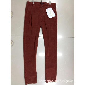 High quanlity red cotton men's pant