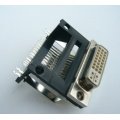DVI 24+5 Female Angle DIP Type Frame Height