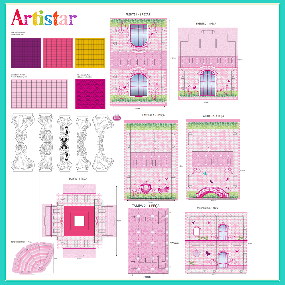 Disney Princess Simulation Create Your Own Craft Activity Trunk 2