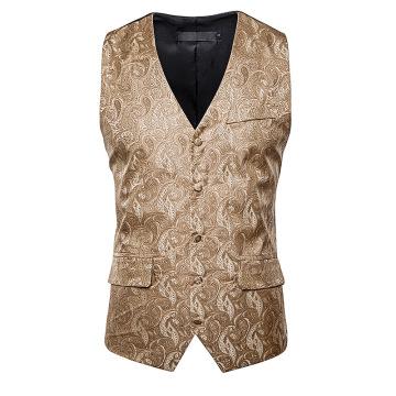 Men Suit Vest 2020 Brand New Paisley Wasitcoat Men Slim Fit Vest Waistcoat Business Wedding Mens Vest Chalecos Para Hombre XXL