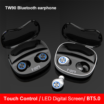 Fast Delivery shipping Invisible Double Pairing Touch Boot 5.0 TWS Earbuds with charging case