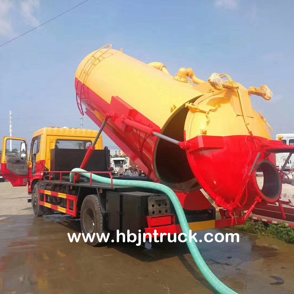 10000 Liters Waste Water Suction Truck