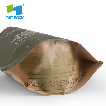 Eco-friendly Compostable Corn-Starch Coffee Paper Bag