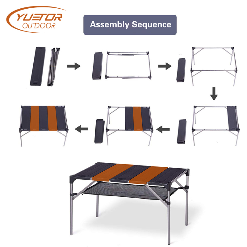 Outdoor Aluminum Folding Table for Picnic Climbing (2)