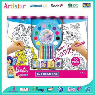 BARBIE Giant colouring set