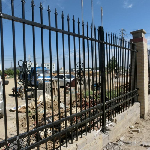 lowest price villas zinc steel fence