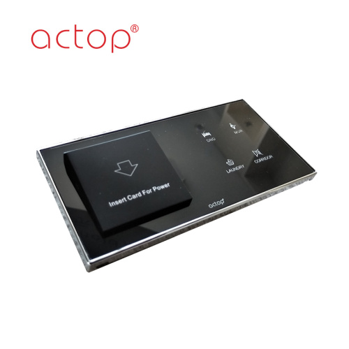 Glass touch panel smart hotel switch