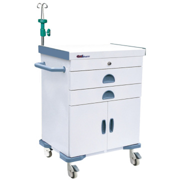 Hospital Steel Removable Medication Tray Emergency Trolley