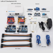 Freeshipping LoRa IoT Development Kit Internet of things with LG02 Dual Channels Gateway 433MHZ-868MHZ-915MHZ