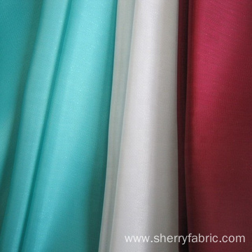 Newest design 30dx30d polyester two tone organza fabric plain woven fabric for dress