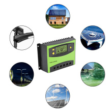 Charge Controller 20A 12v/24v Auto Solar Charge Controller Controllers PWM LCD Dual Output Solar Panel PV Regulator