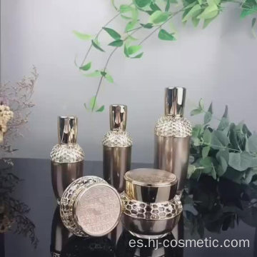 Luxurious acrylic cosmetic black bottle/jars with good price