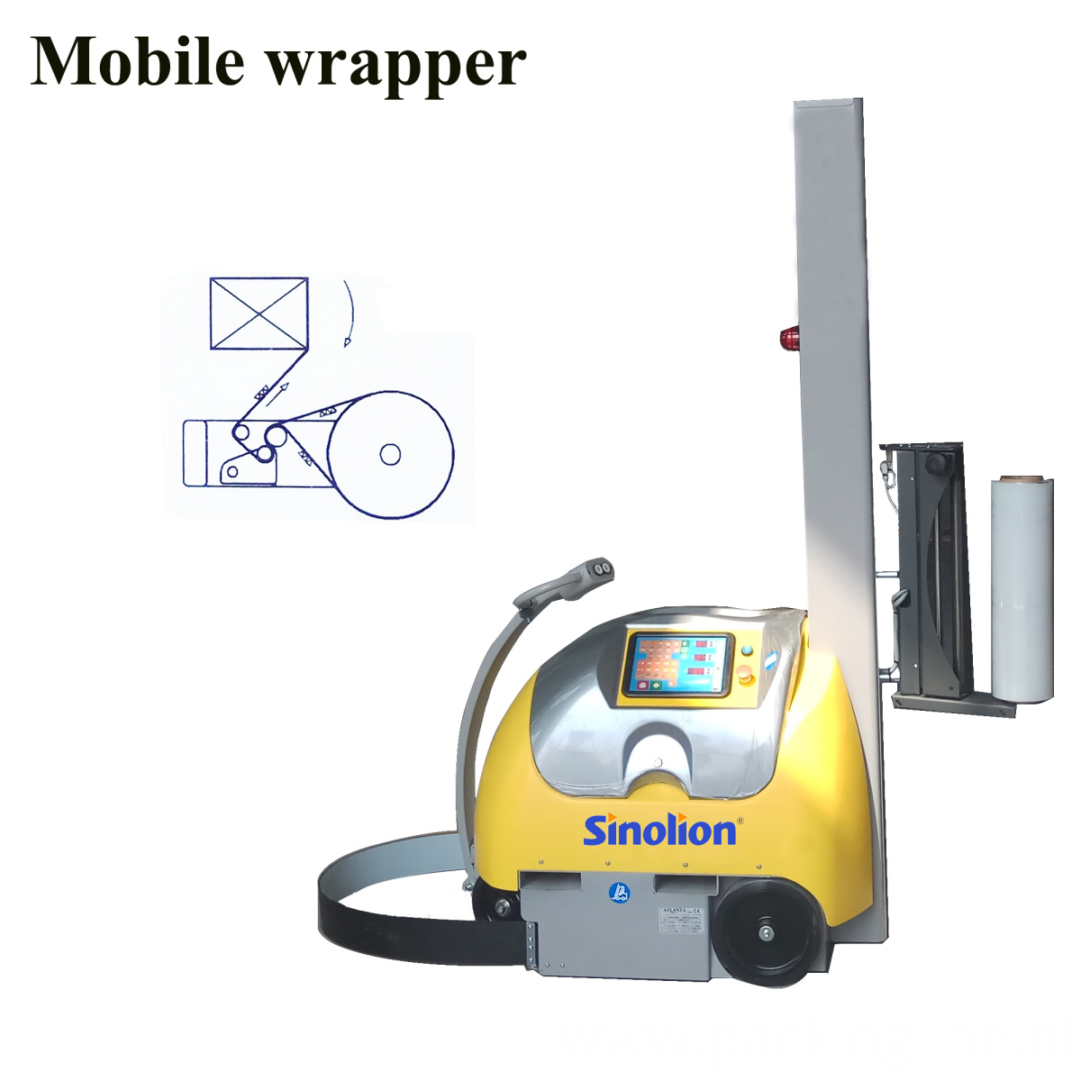 Popular Mobile Pallet Wrapping Machine