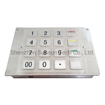 16-Key Stainless Anti-riot PCI Approved Encrypted PinPad
