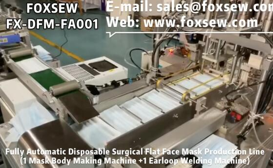 Fully Automatic Disposable Surgical Face Mask Production Line