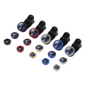 3-in-1 Fish Eye Lenses With Clip 0.67x For IPhone Samsung All Cell Phones Wide Angle Macro Fisheye Lens Camera Kits Mobile Phone