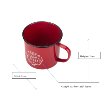 Red ceramic customized tin coffee mug