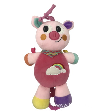 Plush Pink Pig With Music