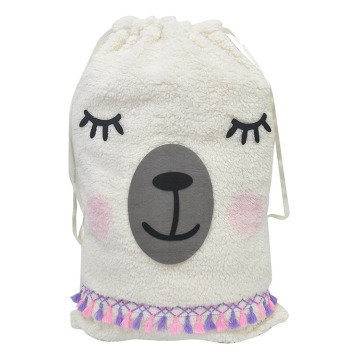 Christmas sack with llama theme