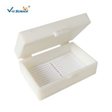 Laboratory 10 PCS Plastic Slide Storage Box
