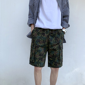 Men's camouflage beach shorts