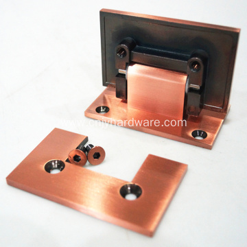 90 Degree Red Antique Brass Shower Hinges