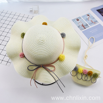 Plain style outdoor baby hat  hand bag
