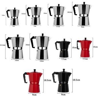 Aluminum Coffee Maker Mocha Espresso Percolator Pot Durable Home Office Durable Espresso Maker Practical Moka Coffee Pot