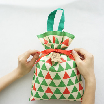 Green Triangle Christmas Non-woven Wine Bottle Bags