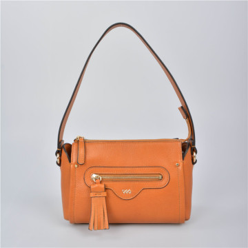 Small shoulder bag in leather