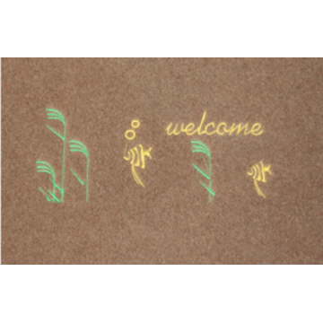 Embossed door mat  with embroidery logo