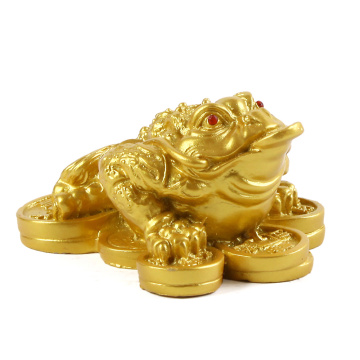Frog toad feng shui money lucky wealth home decoration table decoration feng shui auspicious gift furnishings jinchan