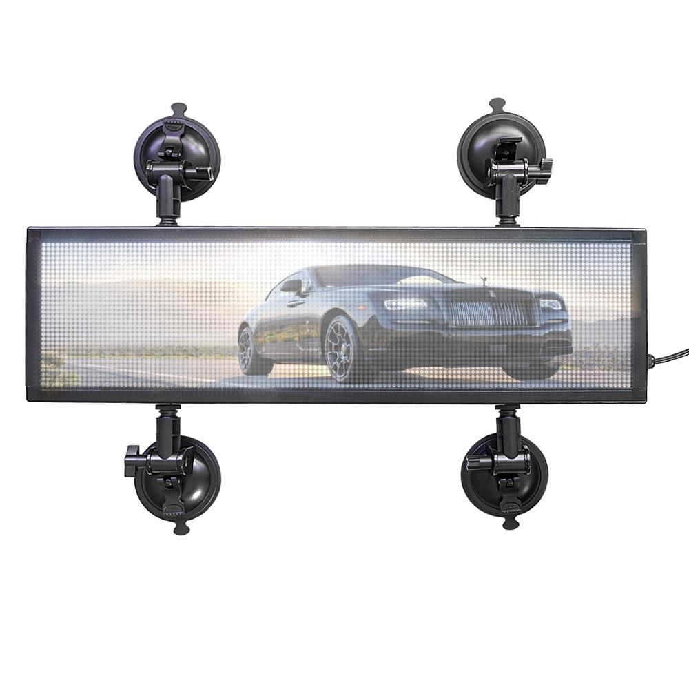 P4MM DC9-36VRGB full color video LED sign, used for car information advertising wireless smart LED display board