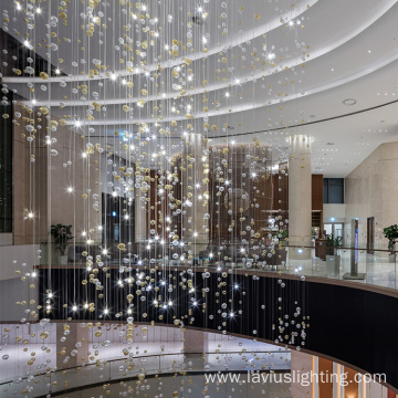 Luxury shopping mall decorative chandelier pendant light