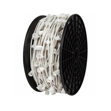 UL Approved Bulk C9 Xmas Light White Spool
