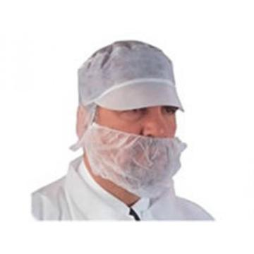 work cap is a peaked cap without hairnet, which comes with an elasticized edge for total hair cover