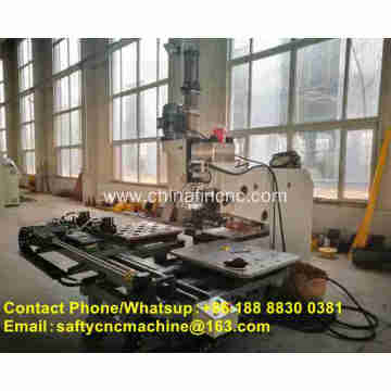 Punching hole machine for steel plate