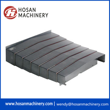 Protective steel plate of accordion guide way shield