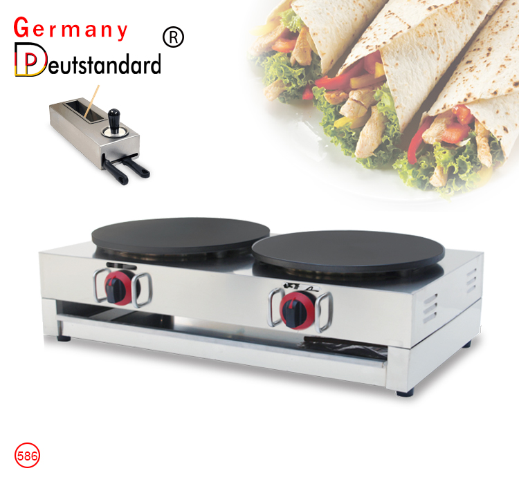 double gas crepe maker