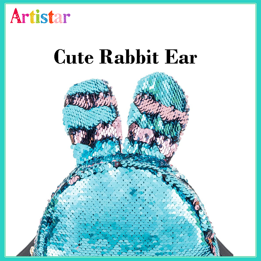 Rabbit Sequin Backpack 12 1 2