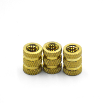 brass insert copper nut knurled hot-melt injection nut