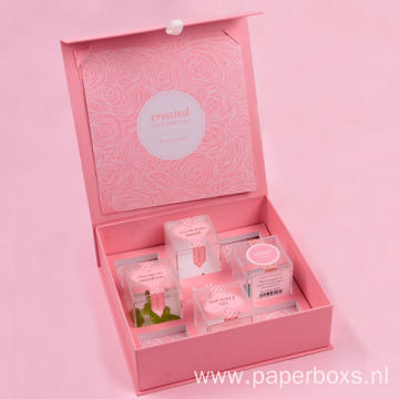 Pink Candy Flip Gift Box Foliding Paperboard Box