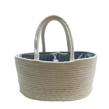 Hot Sale Diaper Caddy Cotton Rope Storage Basket