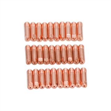 10pcs/set MB-15AK M6*25mm MIG/MAG Welding Torch Contact Tip Gas Nozzle 0.8mm 1mm 1.2mm