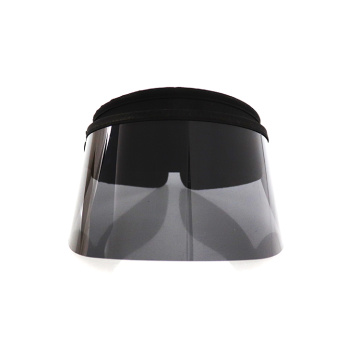 Fashion gold visor face cover sun visor cap