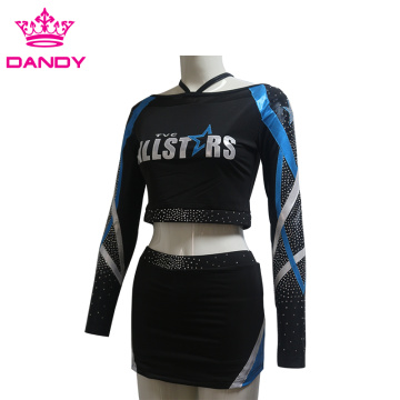 All stars Crop Top Cheer Uniforms