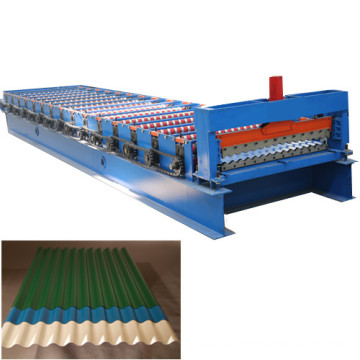 Corrugated iron roller machine